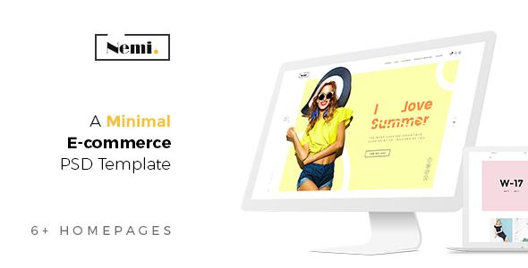 Nemi - Fashion Ecommerce PSD Template            TFx Susumu Osbert