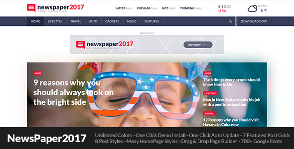 NewsPaper2017 - WordPress Theme for Blog and Magazine            TFx Ed Ali