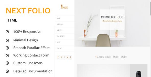 Next Folio - Creative and Minimal Portfolio HTML5 Template            TFx Susilo Kendrick
