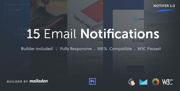 Notifer - Transactional Email Notifications + Builder TFx Hilary Noel