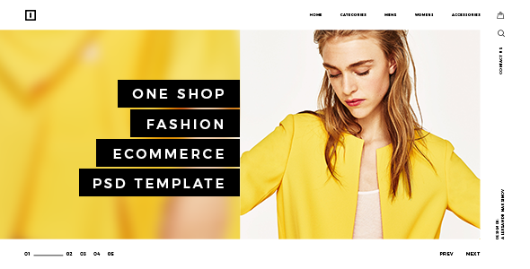 ONE SHOP - Fashion Ecommerce PSD Template TFx Zack Rick