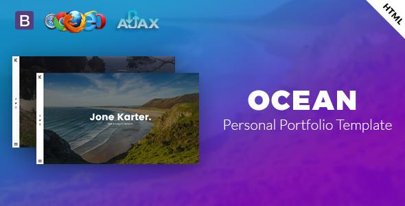 Ocean -  Personal Portfolio Template.            TFx Dawson Ashton