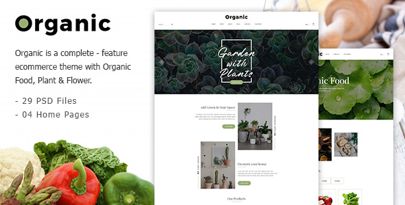 Organic - Responsive Organic Food & Store PSD Template            TFx Noburu Upton