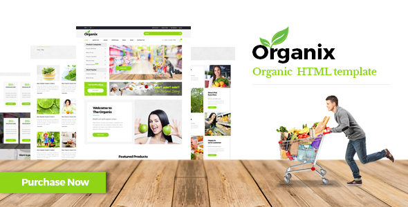 Organix - Organic Product HTML Template            TFx Sparrow Harvie