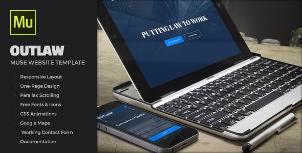 Outlaw - Law Firm Muse Website Template            TFx Vivian Nick