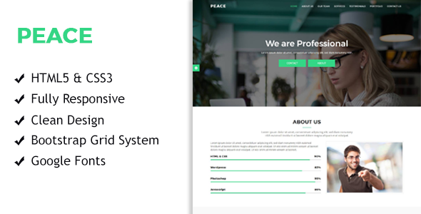 Peace – Multi Purpose Startup Landing Pages            TFx Dwi Fitz