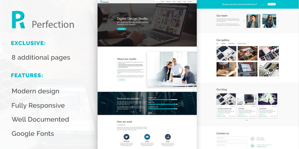 Perfection – Business Multiporpose Website Template TFx Brendan Laird