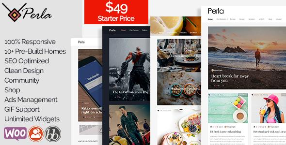Perla - Multi-Concept Blog / Magazine WP Theme            TFx Lucian Vedast