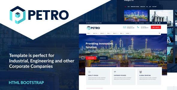 Petro - Industrial HTML Template            TFx Xavior Thad