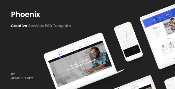 Phoenix – Services PSD Template            TFx Egbert Hal