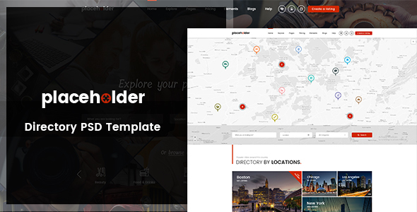 Placeholder - Directory & Listing PSD Template TFx Chandler Muhammad