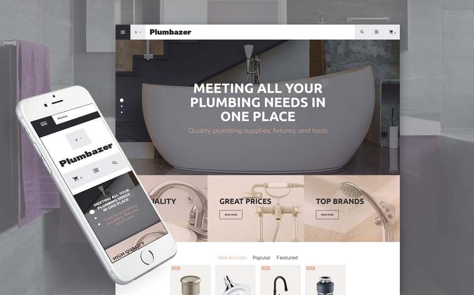 Plumbing Responsive VirtueMart Template TMT Julyan Paxton