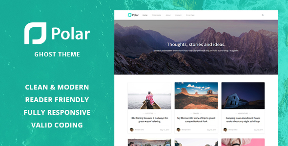 Polar – Minimal Blog and Magazine Ghost Theme.zip TFx Jayce Horace