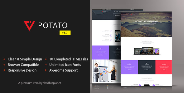 Potato - HTML5 Responsive Template            TFx Gale Aydan