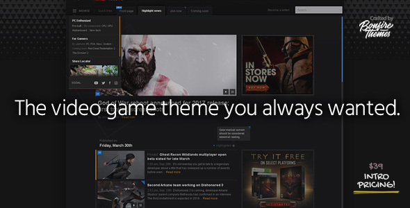 PowerUp - Video Game Theme for WordPress            TFx Kuro Maximilian