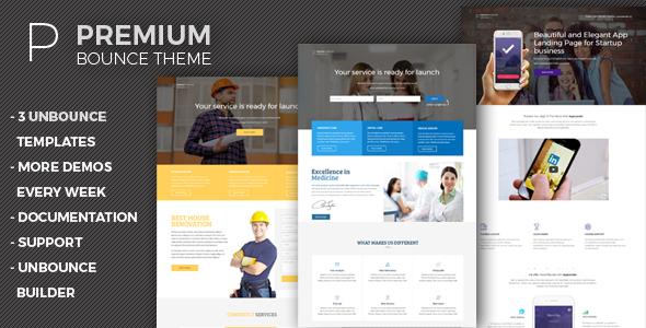 Premium - Unbounce Templates Pack TFx LandingPages Sammy Alexander