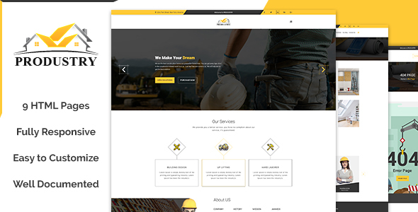 Produstry- Construction Multipage Template            TFx Major Hedley