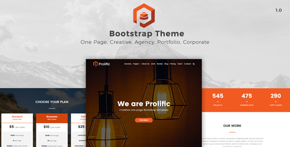 Prolific - One Page Bootstrap Template TFx Dayton Deforest