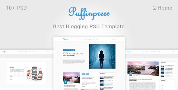 Puffinpress - Creative Blogging PSD Template.            TFx Shiro Shanon