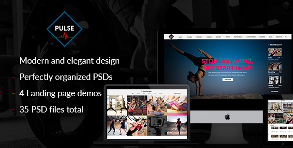 Pulse - PSD for gym, fitness, yoga, crossfit and sport websites with shop.            TFx Isidore Archie