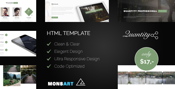 Quantity - Responsive HTML PRO Template            TFx Wilmer Barry