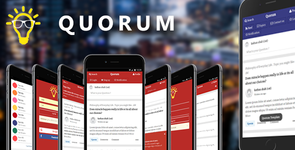 Quorum | Mobile and Tablet Template (Like Quora)            TFx Lavern Chile