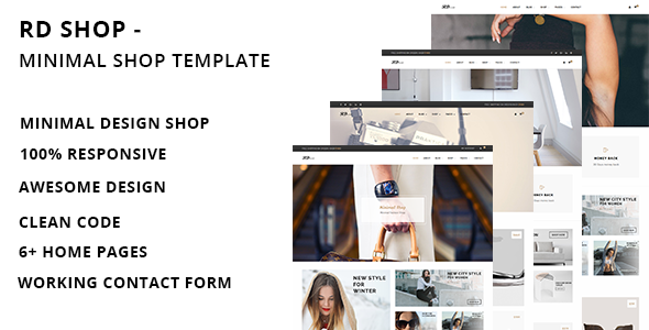 RD Shop - Creative Minimal Shop HTML Template            TFx Foster Saxon