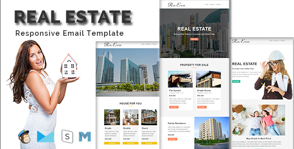 REAL ESTATE - Multipurpose Responsive Email Template With Stamp Ready Builder Access TFx Cyprian Jeff