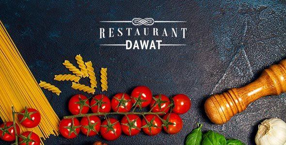 RESTAURANT & Cafe - DAWAT Web Template            TFx Jojo Bryn