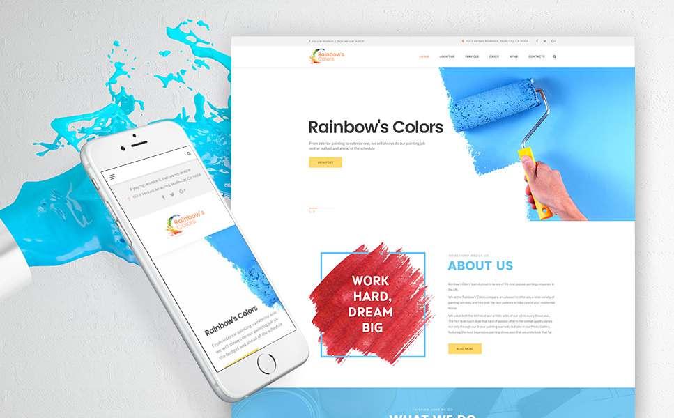 Rainbow's Colors - Painting Company Responsive WordPress Theme TMT Wallis Neal