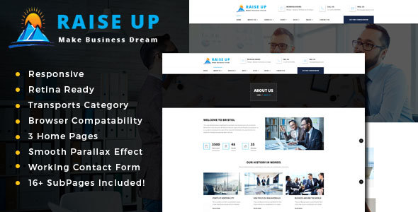 Raise Up : Business Consulting  HTML Template            TFx Lee Ken