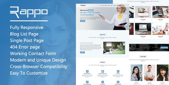 Rappo - Onepage Multipurpose HTML5 Template            TFx Eliott Luke