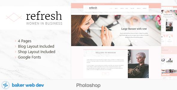 Refresh - Women in Business - Shop & Blog PSD            TFx Mortimer Mat