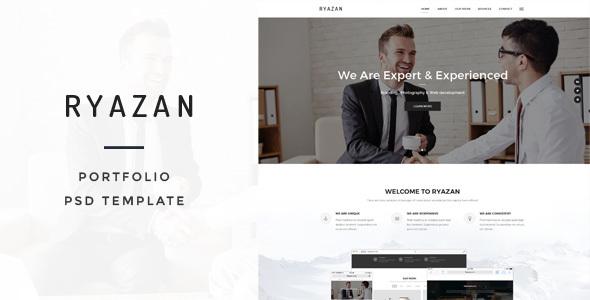 Ryazan - Portfolio PSD Template            TFx Shaw Norman