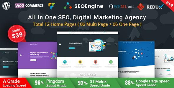 SEO Engine - Digital Marketing Agency WordPress Theme            TFx Donny Montana