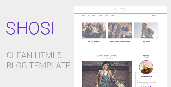 SHOSI - Clean HTML5 Blog Template            TFx Karl Jirair
