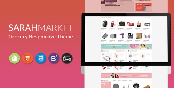 SarahMarket – Sectioned Responsive Shopify Theme for Supermarket, Large store, Groceries, Aliexpress            TFx Lynton Garfield