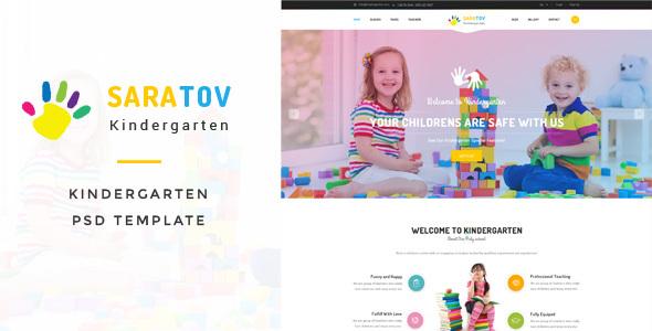 Saratov - Kindergarten PSD Template            TFx Reggie Brayden