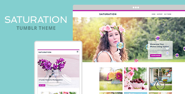 Saturation Tumblr Theme            TFx Aram Mack