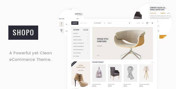 Shopo - Simple & Clean Responsive Shopify Template            TFx Lachlan Elvin