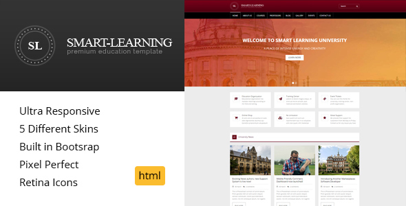 Smart Learning - Premium Education HTML Template            TFx Berry Kodey