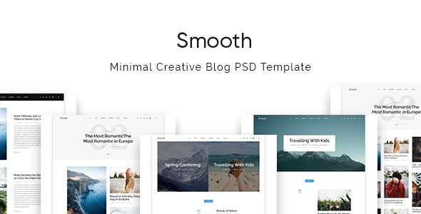 Smooth | Minimal Blog PSD Template            TFx Jerrard Wes