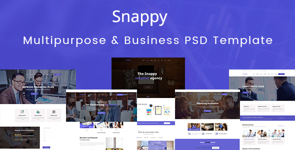 Snappy - Multipurpose & Business PSD Template            TFx Hakob Sota