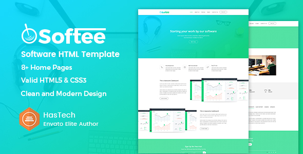 Softee – Software / SaaS Product Template TFx Ollie Hadrian
