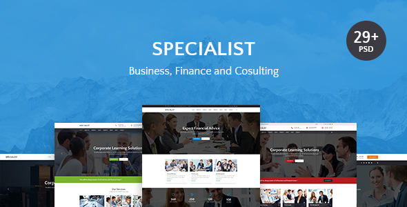 Specialist | Multipurpose Business & Financial, Consulting, Accounting, Broker Psd Templates TFx Ronald Bazza