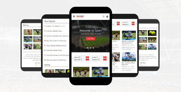 Sport – Responsive Mobile Template TFx Justin Ryota