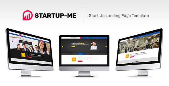 StartUp-Me Landing Page Template TFx LandingPages Keghart Brad
