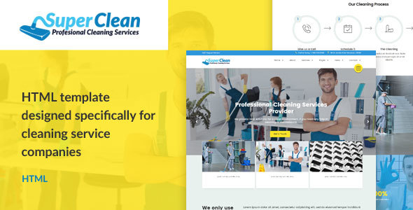 Super Clean - Cleaning Services HTML Template TFx Schuyler Joey