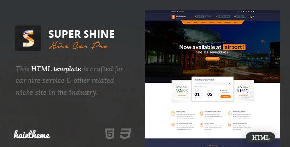 Supershine - Car Rental HTML Template            TFx Zachariah Quincy