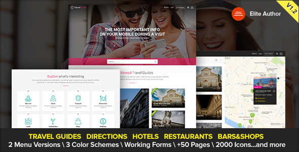 TRAVELGUIDE - Guides, Places and Directions WordPress Theme            TFx Jez Jayce